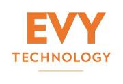 Logotyp för EVY