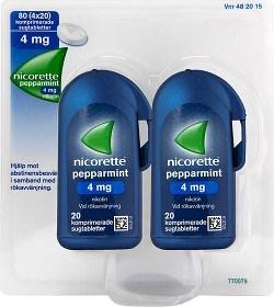 Bild på Nicorette Pepparmint, komprimerad sugtablett 4 mg 4 x 20 st
