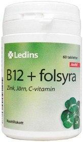 Bild på Ledins B12 + Folsyra 60 tabletter