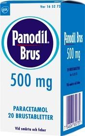 Bild på Panodil Brus, brustablett 500 mg 20 st