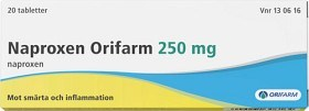 Bild på Naproxen Orifarm, tablett 250 mg 20 st
