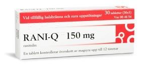 Bild på Rani-Q, filmdragerad tablett 150 mg 30 st