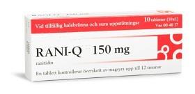 Bild på Rani-Q, filmdragerad tablett 150 mg 10 st