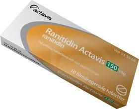 Bild på Ranitidin Actavis, filmdragerad tablett 150 mg 10 st