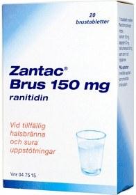 Bild på Zantac Brus, brustablett 150 mg GlaxoSmithKline AB 20 st