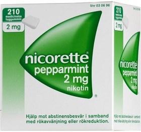 Bild på Nicorette Pepparmint, medicinskt tuggummi 2 mg 210 st