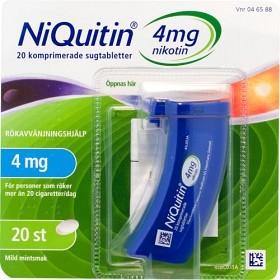 Bild på NiQuitin, komprimerad sugtablett 4 mg 20 st