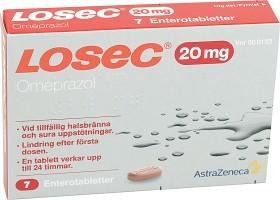 Bild på Losec, enterotablett 20 mg AstraZeneca AB 7 st