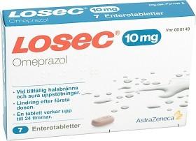 Bild på Losec, enterotablett 10 mg 7 st