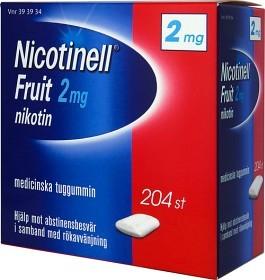 Bild på Nicotinell Fruit, medicinskt tuggummi 2 mg 204 st
