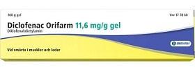 Bild på Diclofenac Orifarm, gel 11,6 mg/g 100 gr
