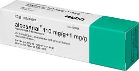 Bild på Alcosanal, rektalsalva 110 mg/g 20 gr