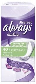 Bild på Always Discreet Flexistyle 40 st oparfymerad