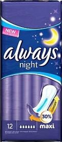 Bild på Always Maxi Night 12 st oparfymerad