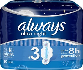 Bild på Always Ultra Night 10 st oparfymerad