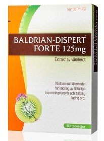 Bild på Baldrian-Dispert Forte, dragerad tablett 125 mg 50 st