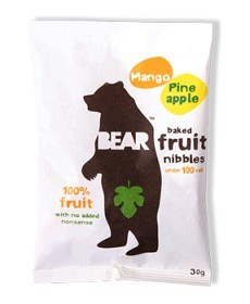 Bild på Bear Fruit Nibbles Mango & Ananas 30 g