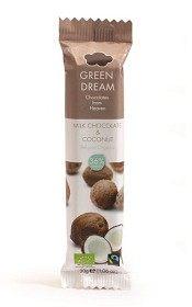 Bild på Green Dream Milk Chocolate & Coconut 30 g