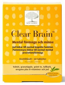 Bild på Clear Brain 60 tabletter