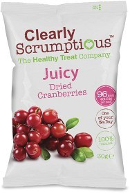Bild på Clearly Scrumptious Juicy Dried Cranberries 30 g
