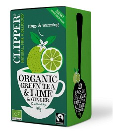 Bild på Clipper Green Tea Lime & Ginger 20 st