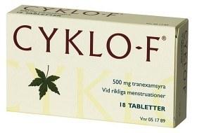 Bild på Cyklo-F filmdragerad tablett 500 mg 18 st