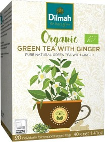 Bild på Dilmah Te Green Tea with Ginger EKO 20p