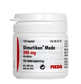 Bild på Dimetikon Meda, kapsel, mjuk 200 mg 100 st