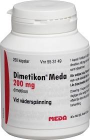 Bild på Dimetikon Meda, kapsel, mjuk 200 mg 250 st