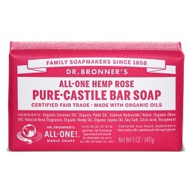 Bild på Dr Bronner Rose Bar Soap