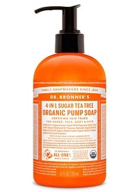 Bild på Dr Bronner Shikakai Hand & Body Soap Tea Tree 355 ml