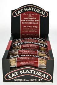 Bild på Eat Natural Dark Chocolate Cranberries & Macadamias 12 st
