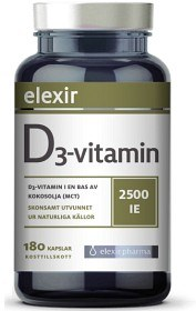 Bild på Elexir D3-vitamin 2500 IE 180 kapslar