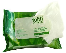 Bild på Faith In Nature 3-in-1 Facial Wipes 25 st