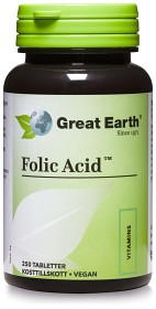 Bild på Great Earth Folic Acid 400 mcg 250 tabletter