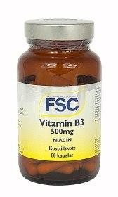 Bild på FSC Vitamin B3 Niacin 60 kapslar