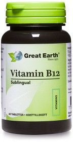 Bild på Great Earth B-12 Sublingual 500 mcg 60 tabletter
