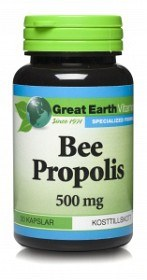 Bild på Great Earth Bee Propolis 500 mg 50 kapslar