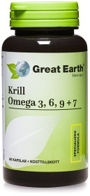 Bild på Great Earth Krill Omega 3, 6, 9 och 7 60 kapslar
