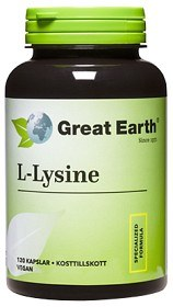 Bild på Great Earth L-Lysine 500 mg 120 kapslar