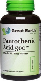 Bild på Great Earth Pantothenic Acid 500 90 tabletter