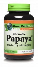 Bild på Great Earth Papaya Chewable 210 tabletter