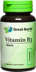 Bild på Great Earth Vitamin B3, 60 tabletter