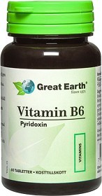 Bild på Great Earth Vitamin B6, 60 tabletter