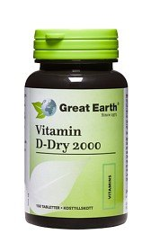 Bild på Great Earth Vitamin D-Dry 2000 150 tabletter