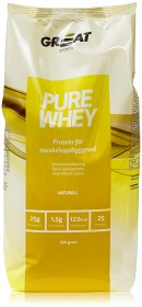 Bild på Great Earth Nutrition Pure Whey Naturell 750g