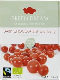 Bild på Green Dream Dark Chocolate Cranberry 55 g