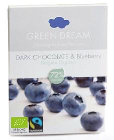 Bild på Green Dream Dark Chocolate Blueberry 55 g