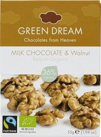 Bild på Green Dream Milk Chocholate & Walnut 55 g