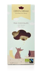 Bild på Green Dream Milk Chocolate with Banana EKO 85g